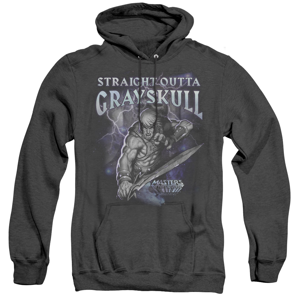 Masters of the Universe Straight Outta Grayskull Adult Heather Hoodie