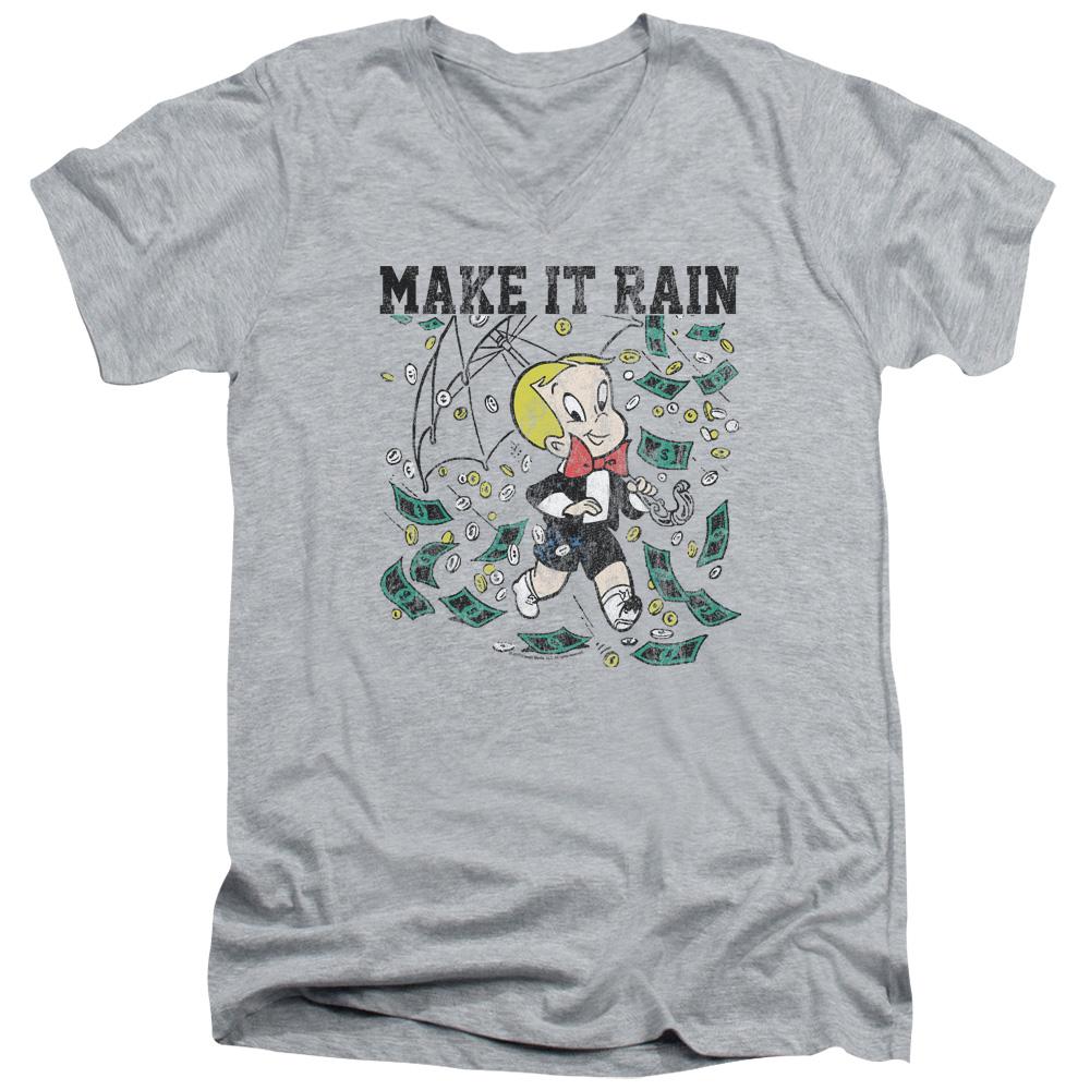 Richie Rich Make It Rain V-Neck T-Shirt