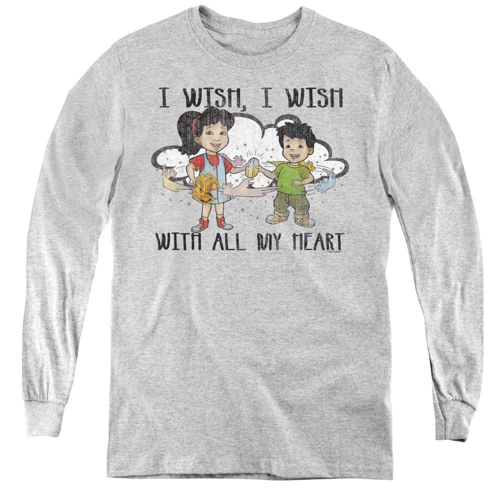 Dragon Tales I Wish With All My Heart Kids Long Sleeve Shirt