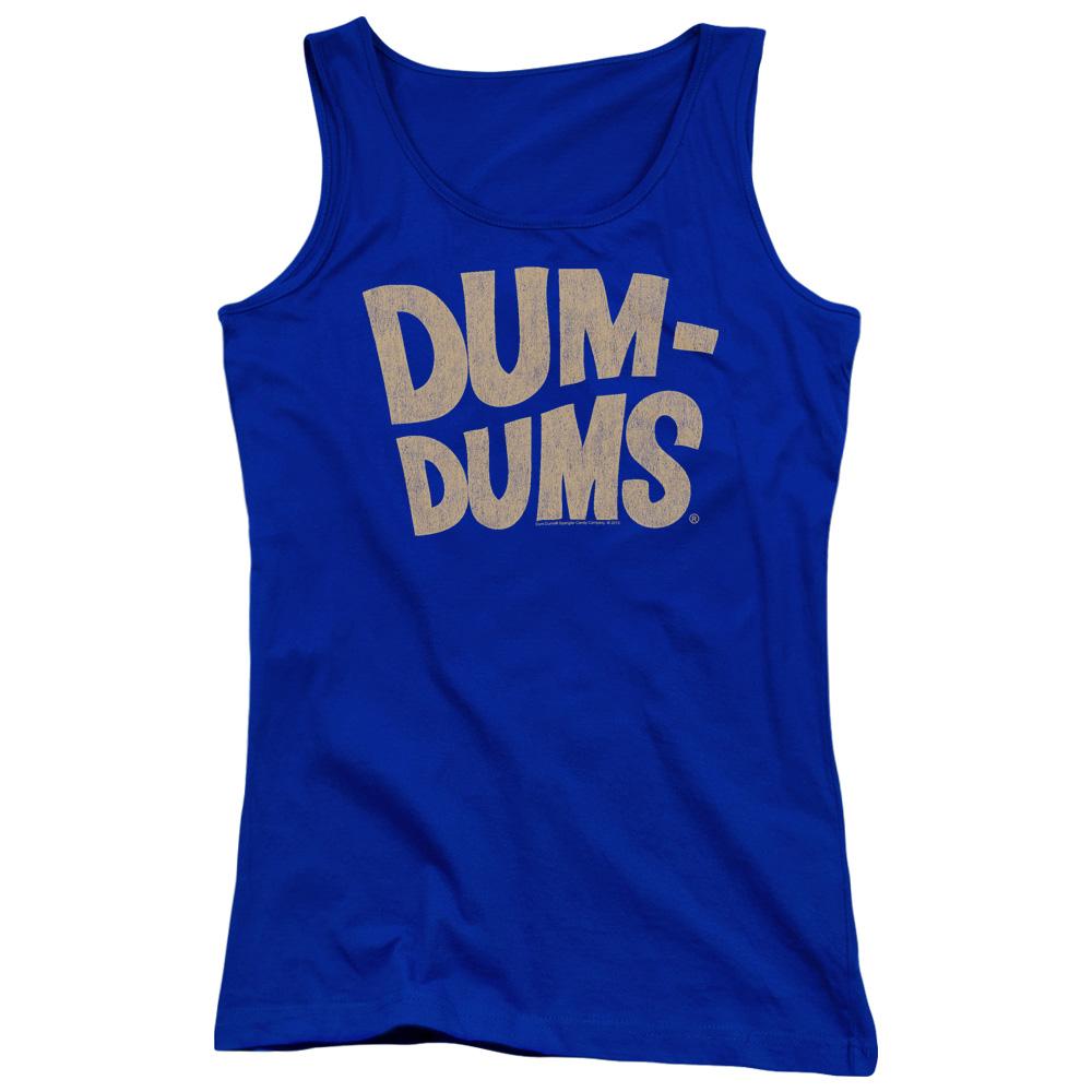 Dum Dums Distressed Logo Juniors Tank Top