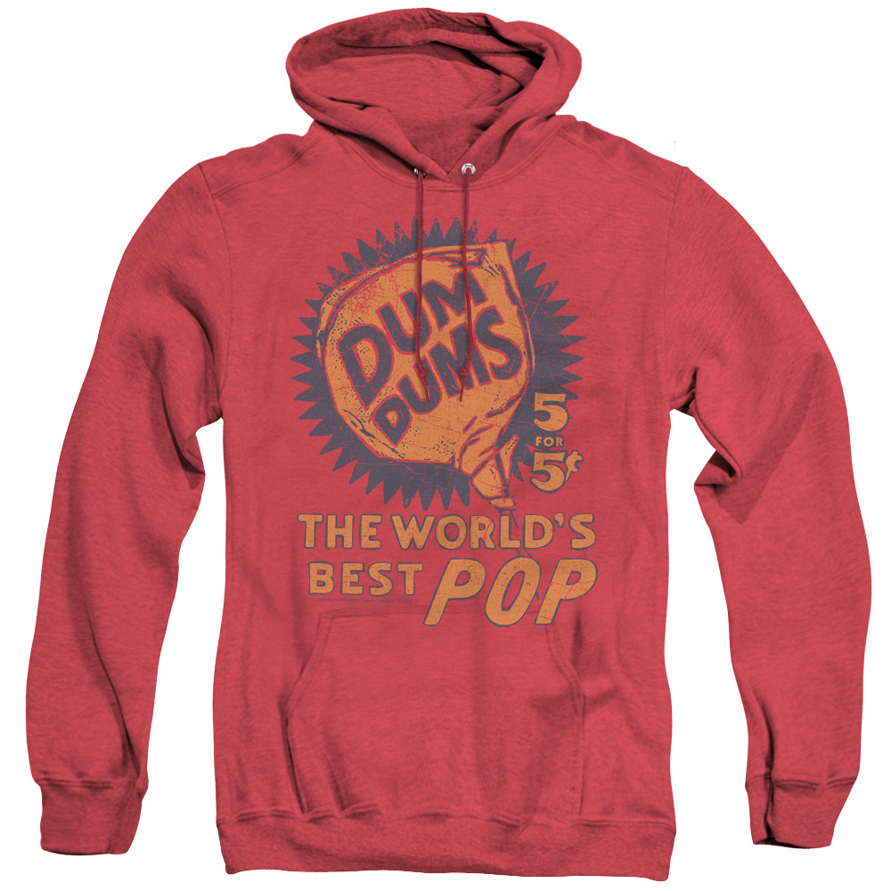 Dum Dums 5 For 5 Adult Heather Hoodie