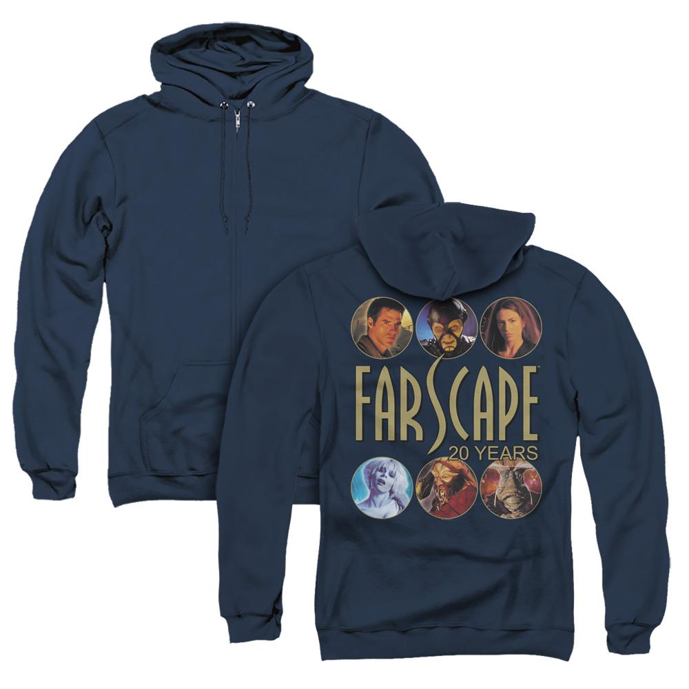 Farscape 20 Years Adult Zip Hoodie