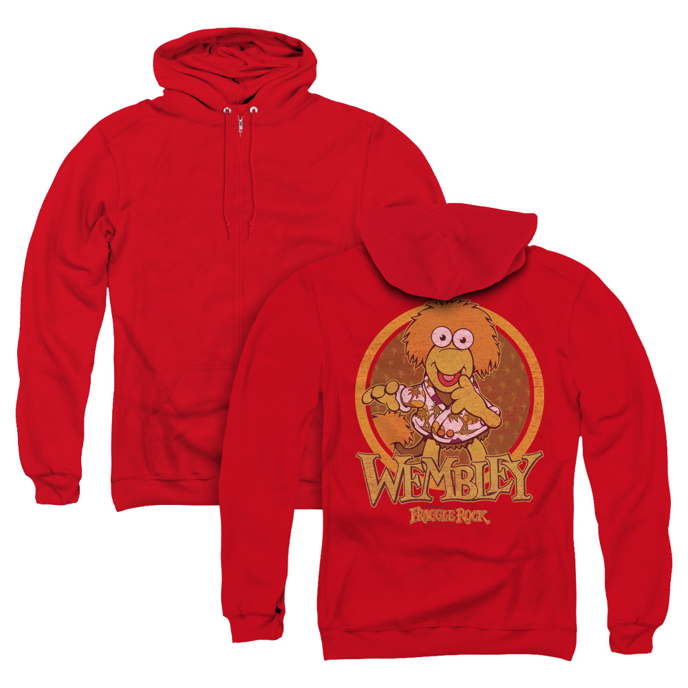 Wembley Circle Fraggle Rock Adult Zip Hoodie