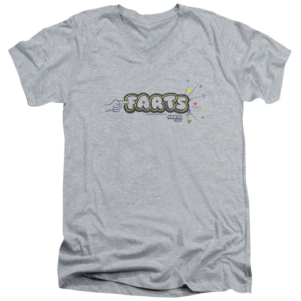 Farts Candy Finger Logo V-Neck T-Shirt