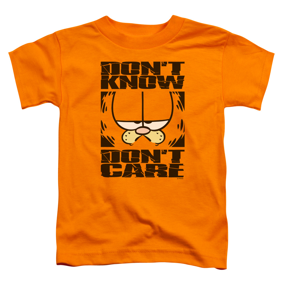 Garfield Dont Know Dont Care Toddler T-Shirt