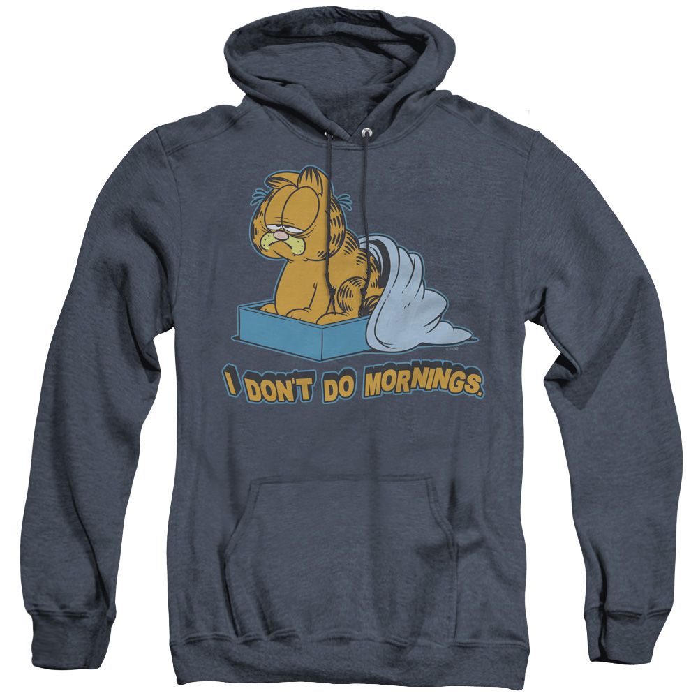 Garfield I Don'T Do Morning Adult Heather Hoodie