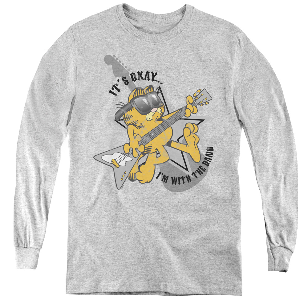 Garfield In With The Band Kids Long Sleeve Shirt