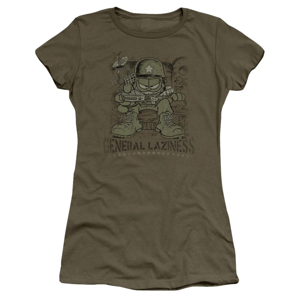 Garfield General Laziness Junior Fit T Shirt