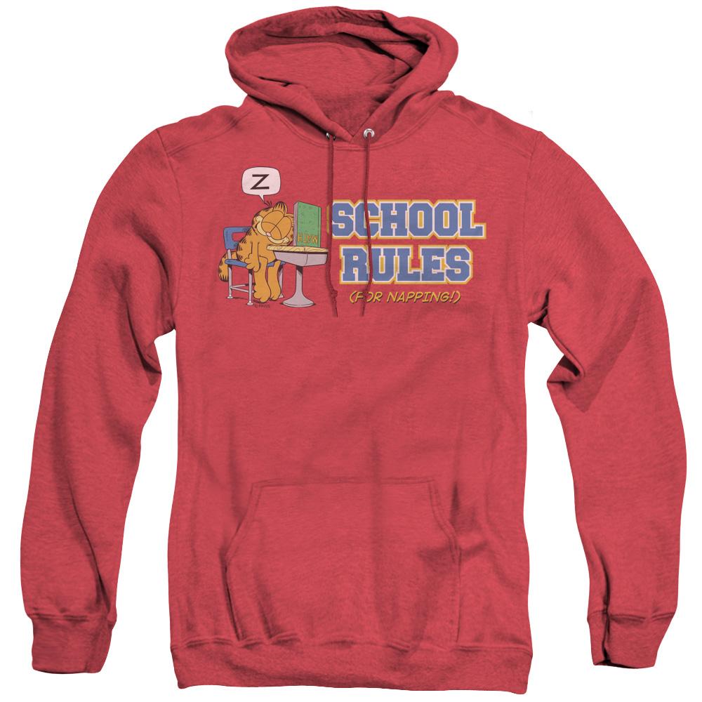 Garfield School Rules Adult Heather Hoodie