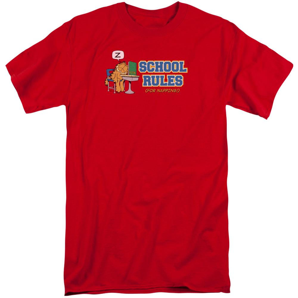 Garfield School Rules Tall T-Shirt
