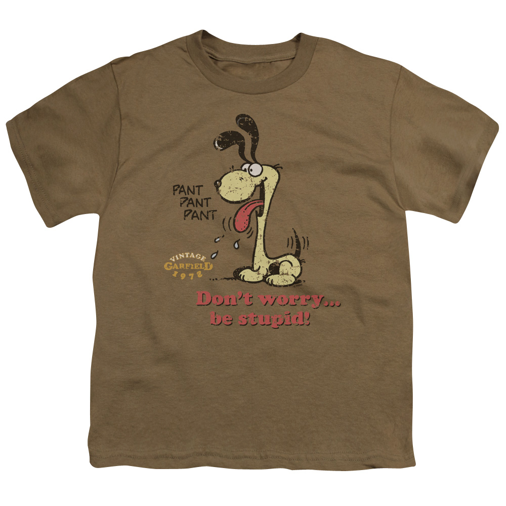 Garfield Don'T Worry Be Stupid Kids T-Shirt