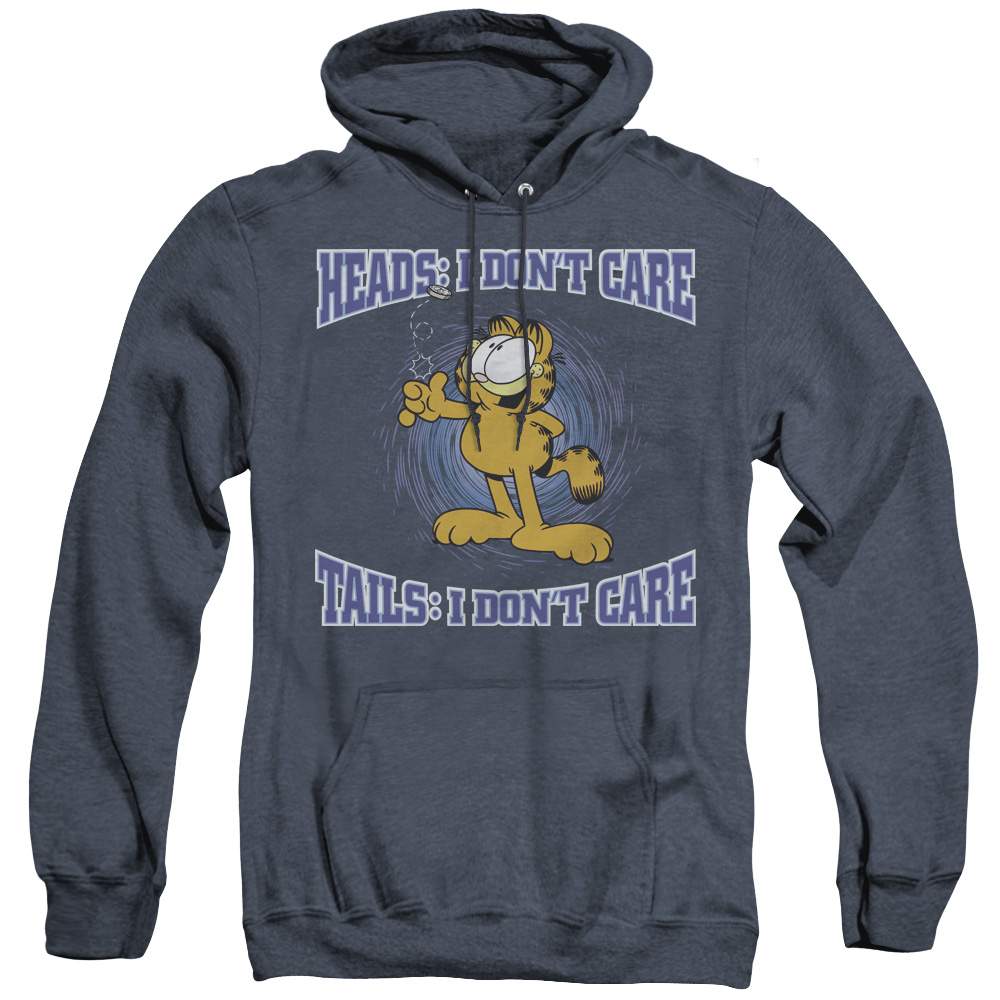 Garfield Heads Or Tails Adult Heather Hoodie