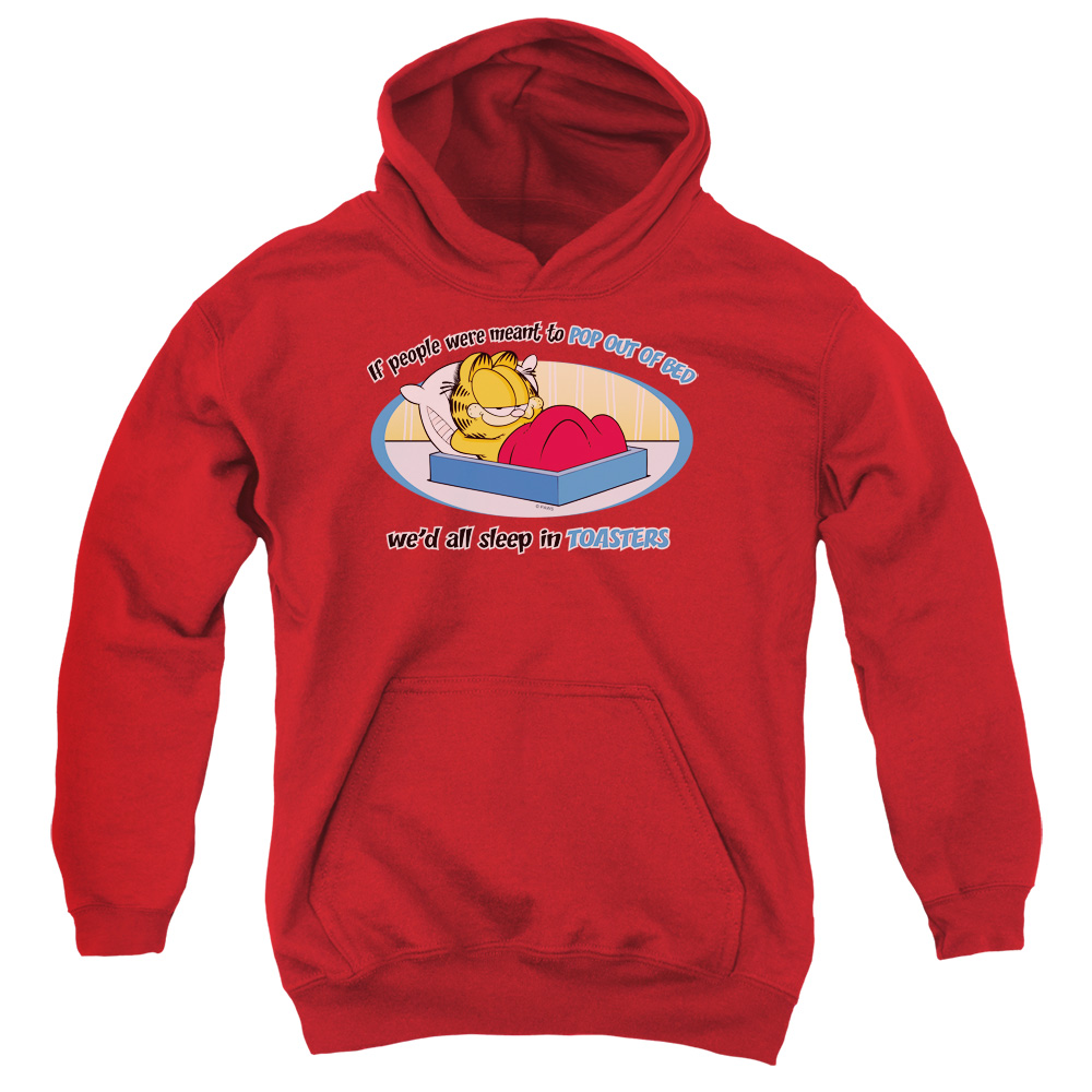 Garfield Pop Out Of Bed Kids Hoodie