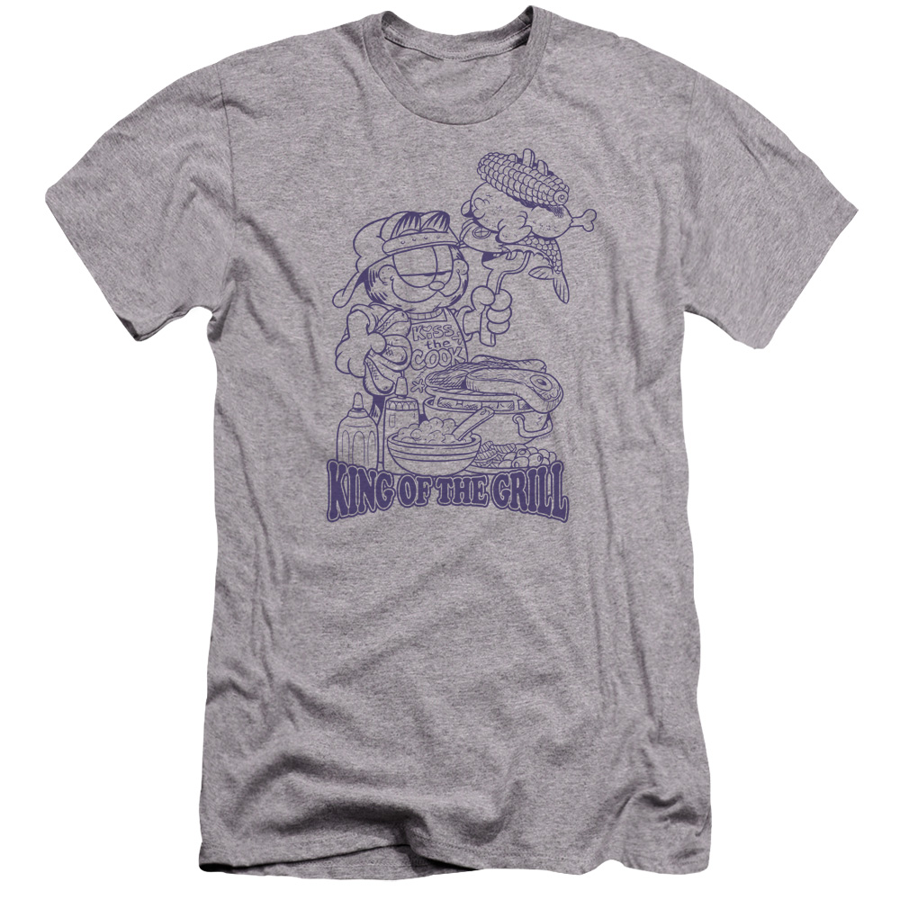 Garfield King Of The Grill Premium Slim Fit T-Shirt