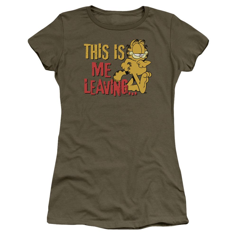 Garfield Leaving Junior Fit T Shirt