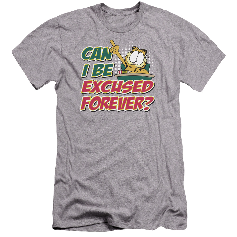 Garfield Excused Forever Premium Slim Fit T-Shirt