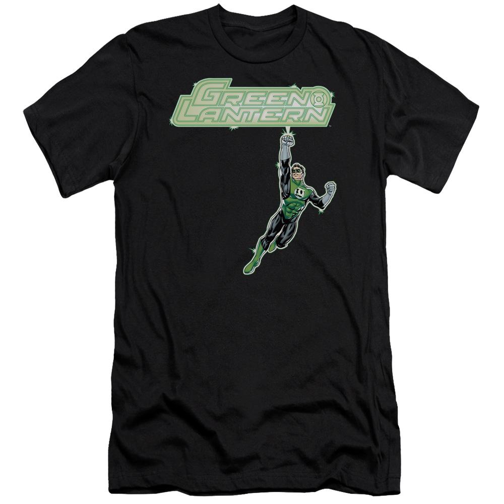 Green Lantern Energy Construct Logo Premium Slim Fit T-Shirt