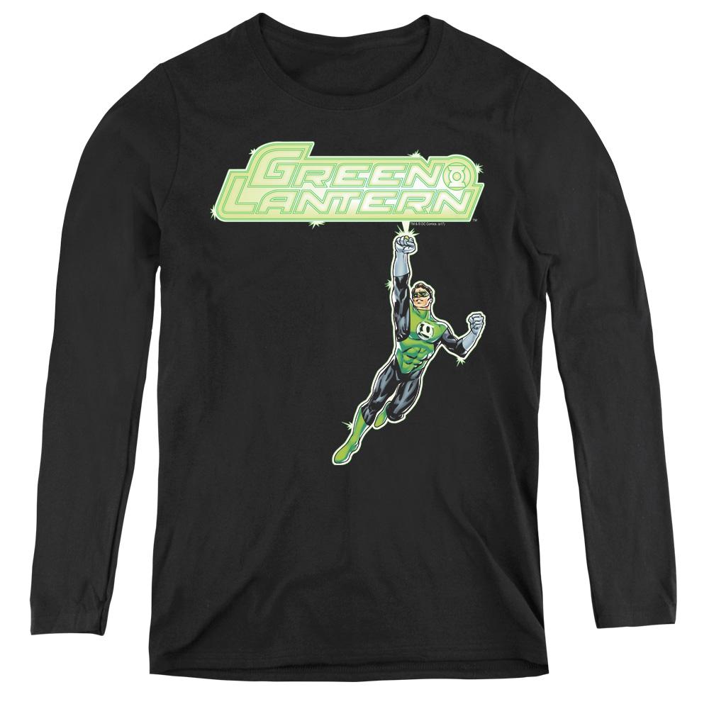 Green Lantern Energy Construct Logo Women's Long Sleeve Shirt