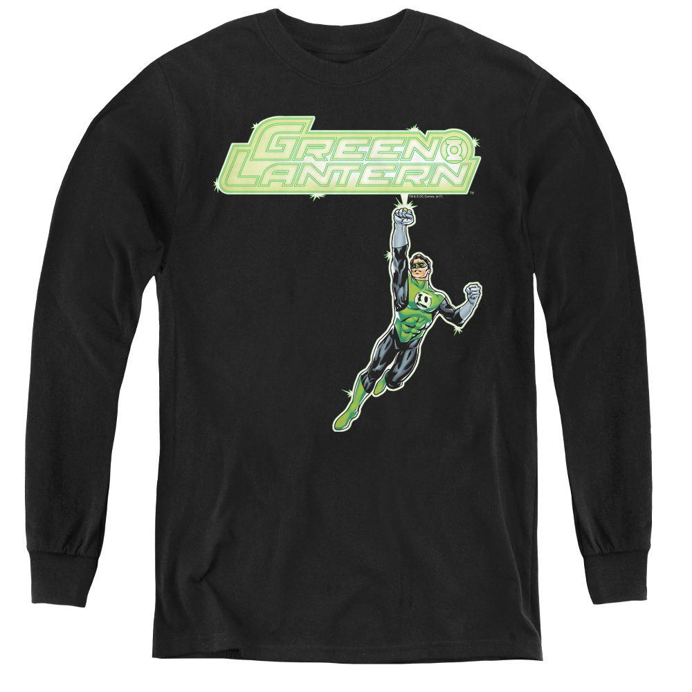 Green Lantern Energy Construct Logo Kids Long Sleeve Shirt