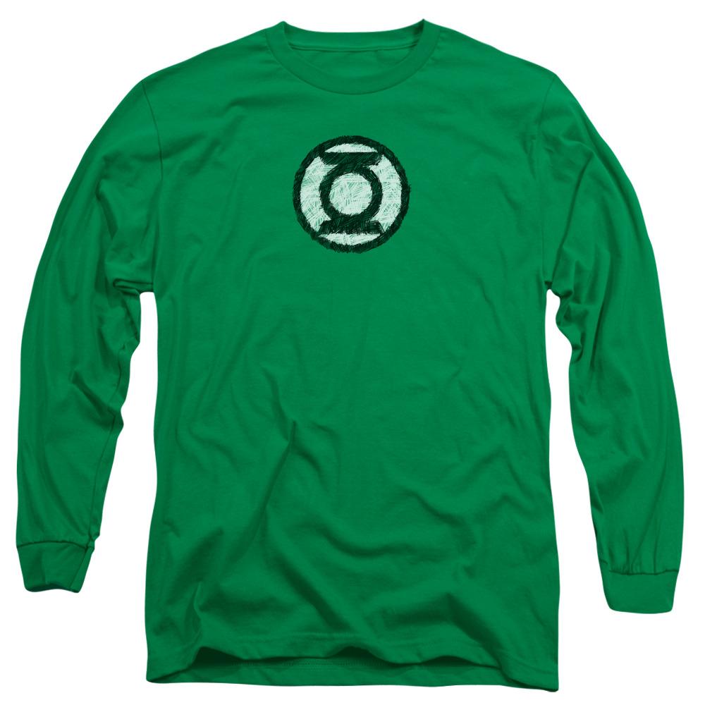 Green Lantern Scribble Lantern Logo Long Sleeve Shirt