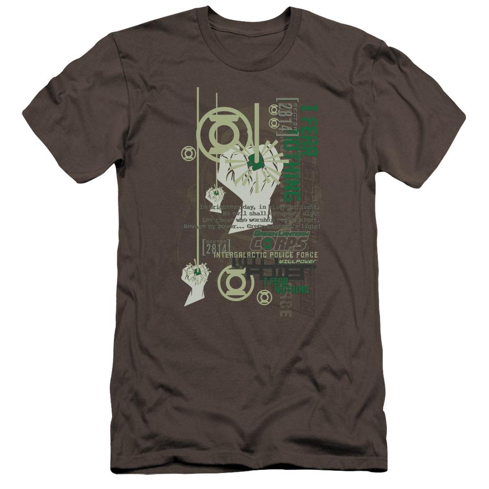 Green Lantern Core Strength Premium Slim Fit T-Shirt