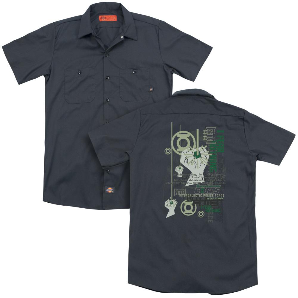 Green Lantern Core Strength Work Button Up Shirt