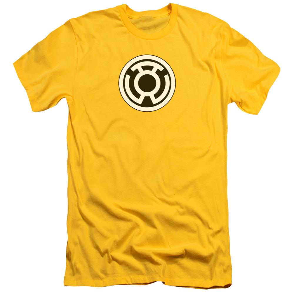 Green Lantern Sinestro Corps Yellow Symbol Slim Fit T Shirt Ebay