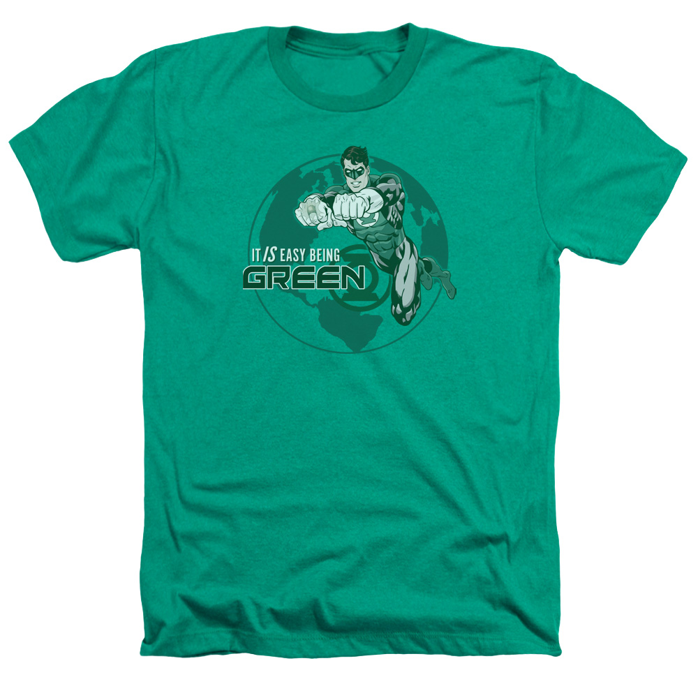 Green Lantern Easy Being Green Heather T-Shirt