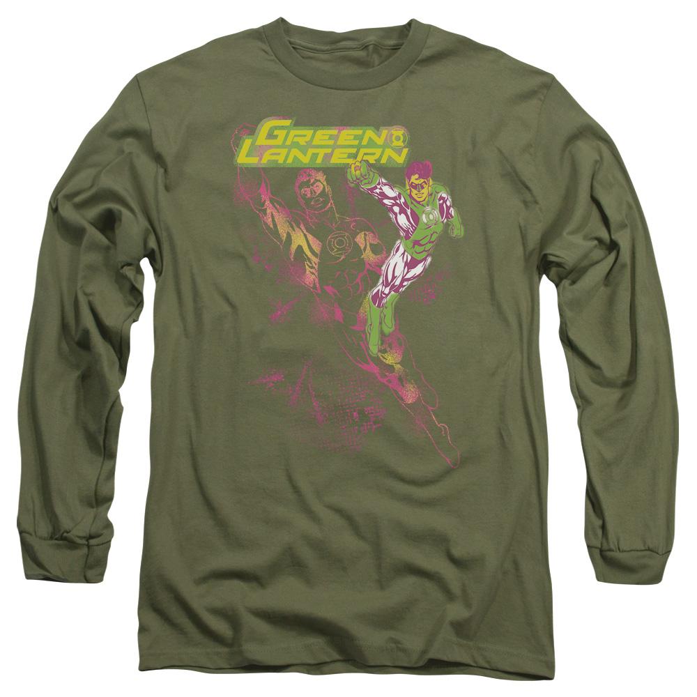 Green Lantern Spray Long Sleeve Shirt