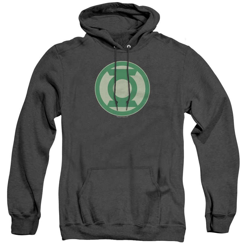 Green Lantern Green Symbol Adult Heather Hoodie