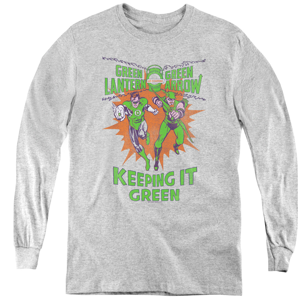 Green Lantern Keeping It Green Kids Long Sleeve Shirt