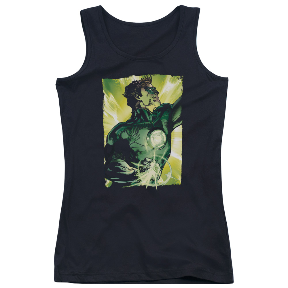 Green Lantern Up Up Juniors Tank Top