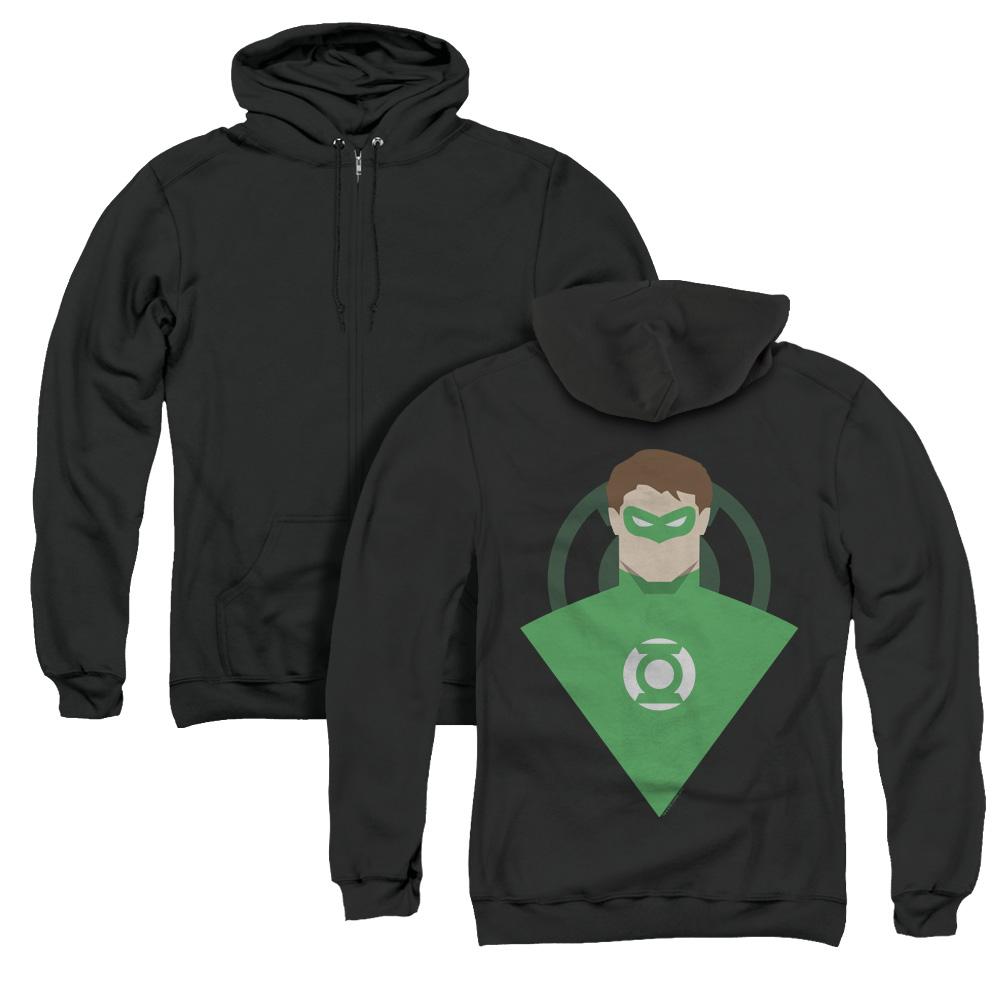 Green Lantern Simple  Adult Zip Hoodie