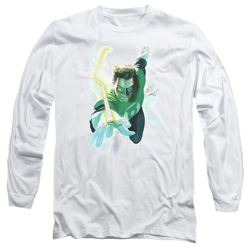 Green Lantern Clouds Long Sleeve Shirt