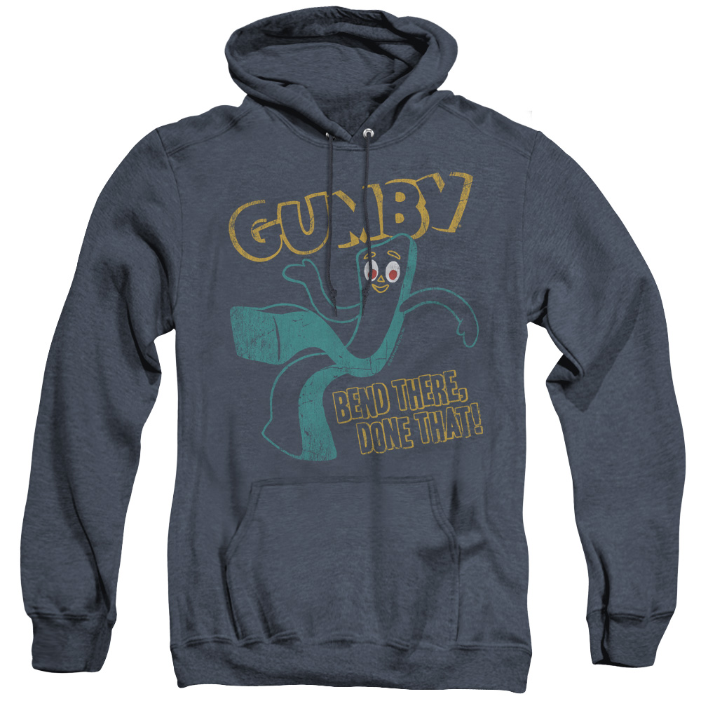 Gumby Bend There Adult Heather Hoodie