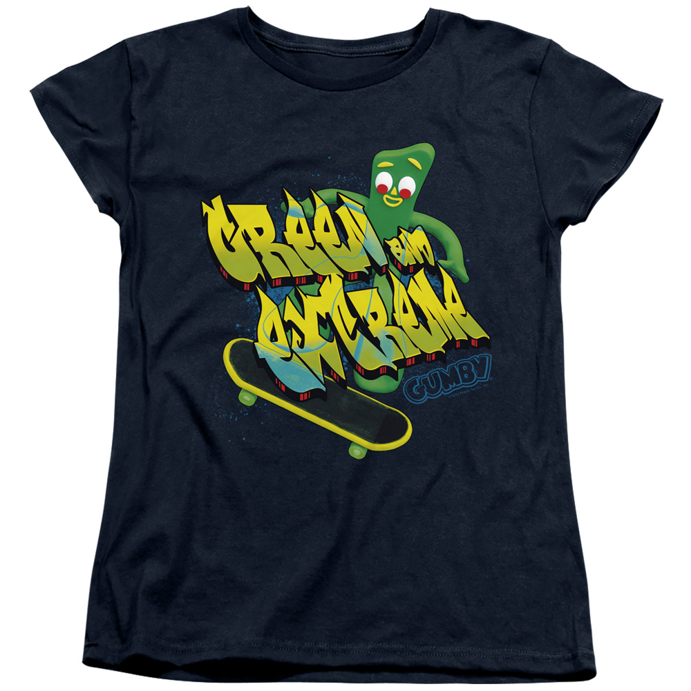 Gumby Green And Extreme Women's T-Shirt