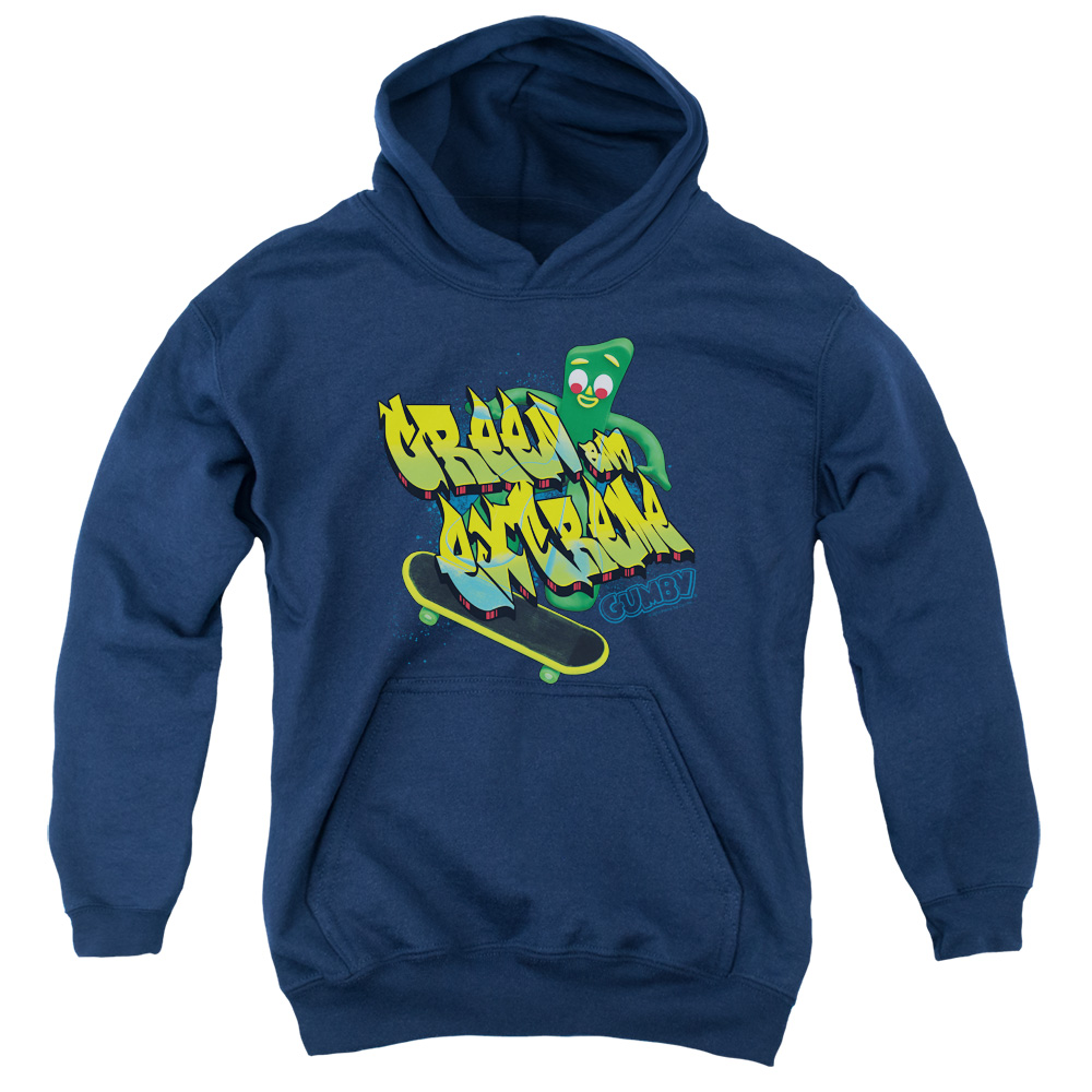 Gumby Green And Extreme Kids Hoodie