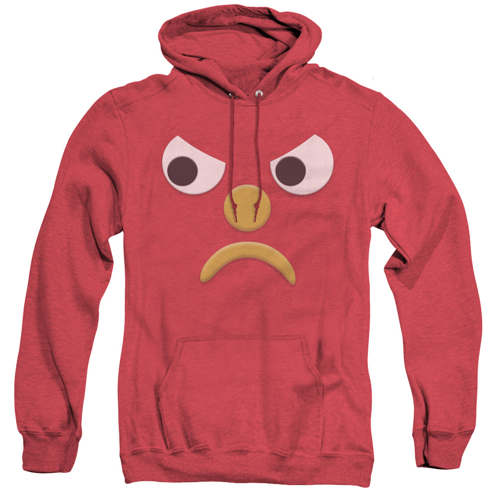 Gumby Blockhead G Mad Face Adult Heather Hoodie