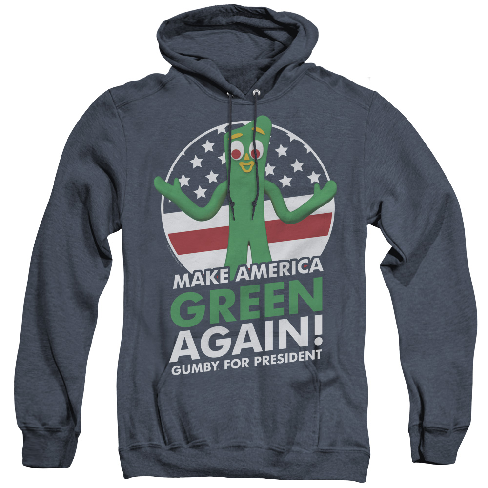 Gumby Make America Green Again President Adult Heather Hoodie