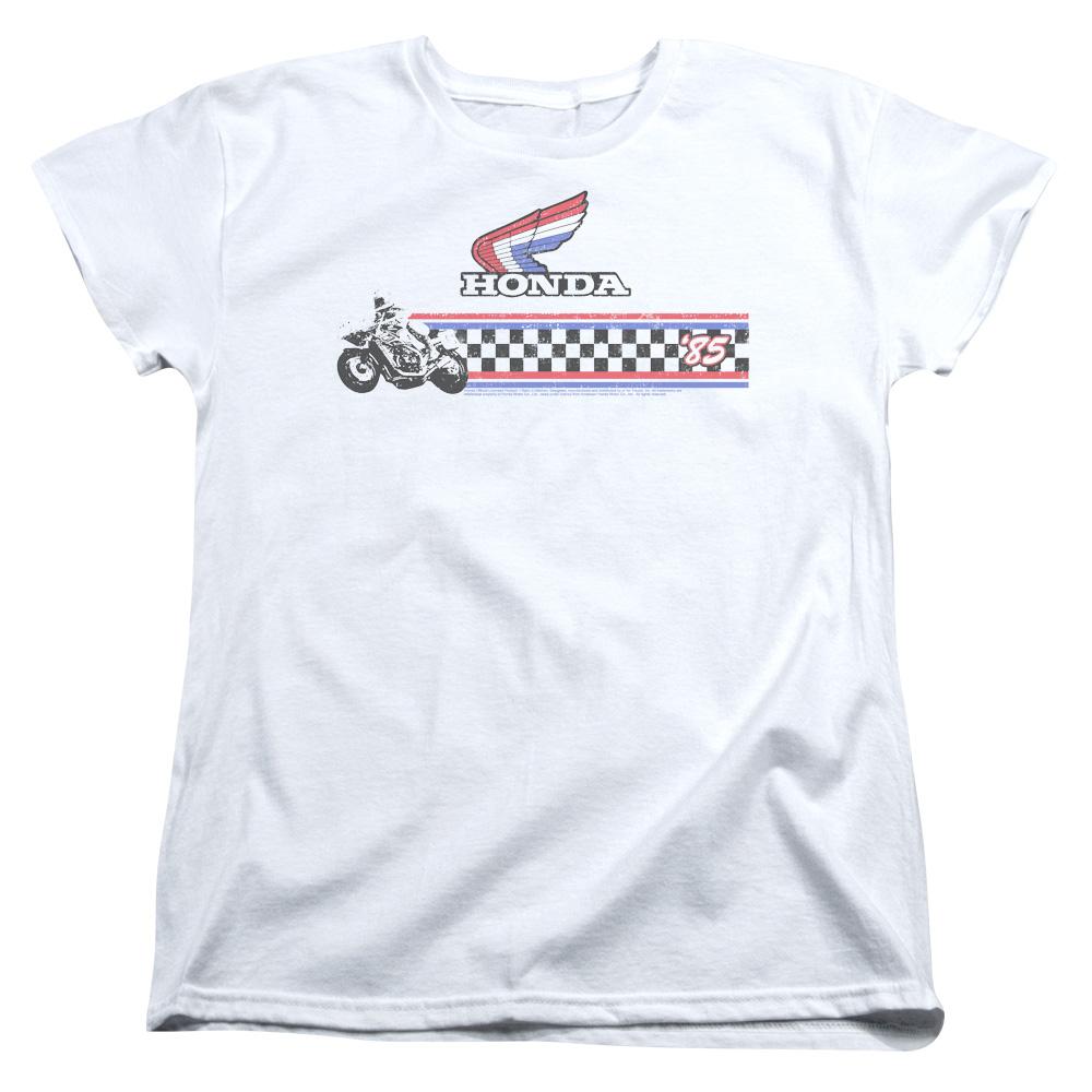 Honda Motorcycle 1985 Red White Blue Women's T-Shirt