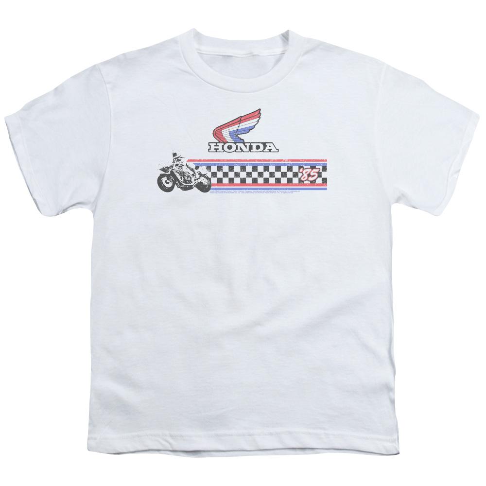 Honda Motorcycle 1985 Red White Blue Kids T-Shirt