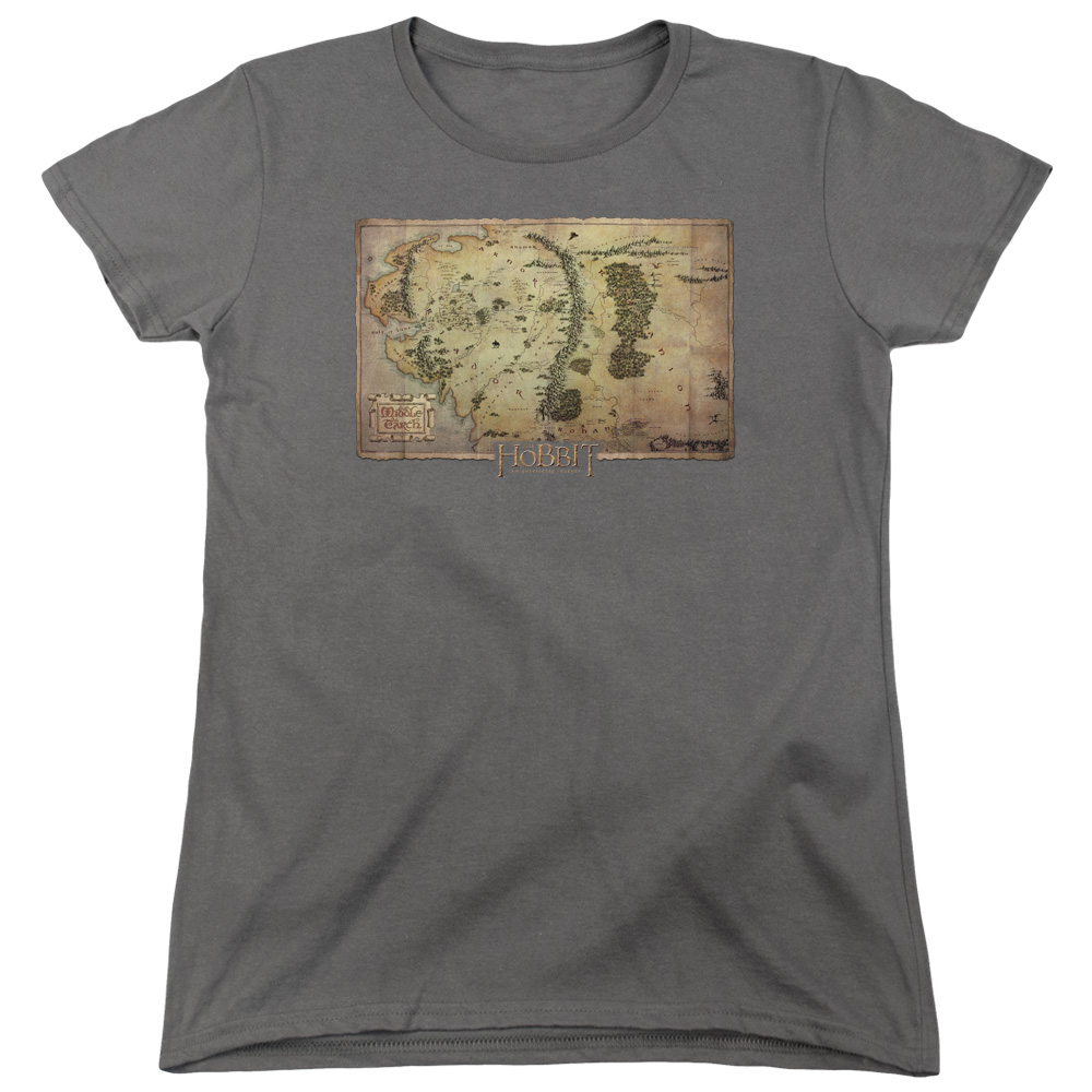Middle Earth Map The Hobbit Women's T-Shirt