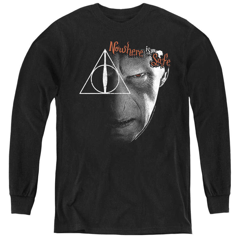 Harry Potter Nowhere Is Safe Kids Long Sleeve Shirt
