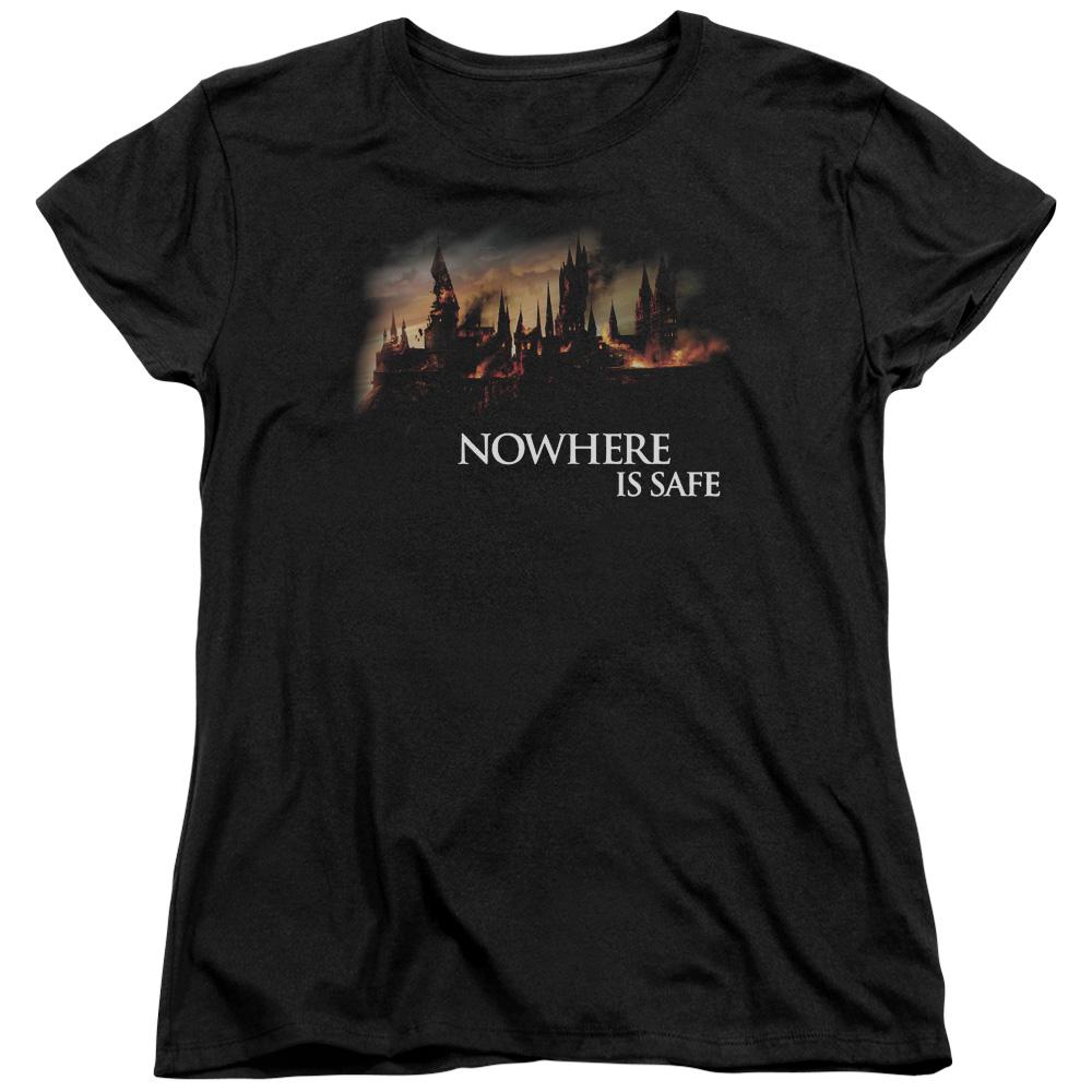 Nowhere Is Safe Fire Harry Potter Women's T-Shirt