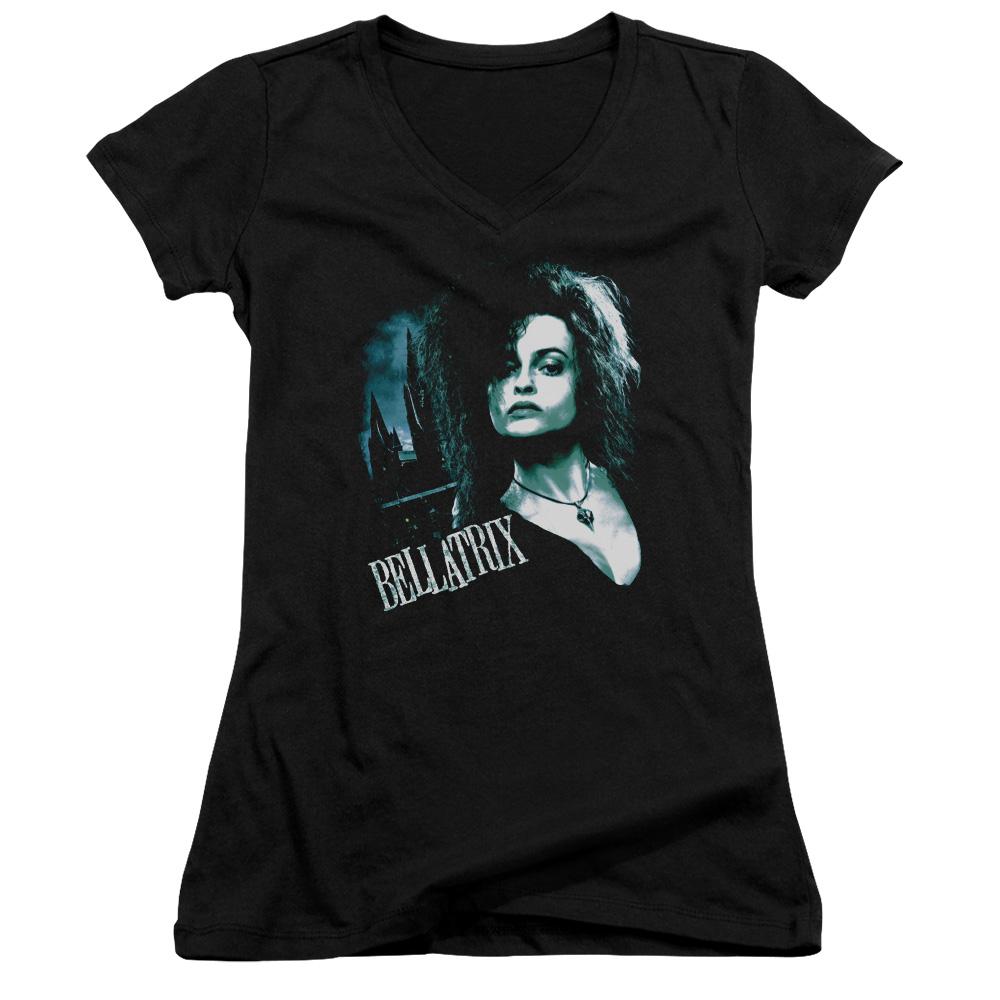 Harry Potter Bellatrix Closeup  Juniors V-Neck T-Shirt