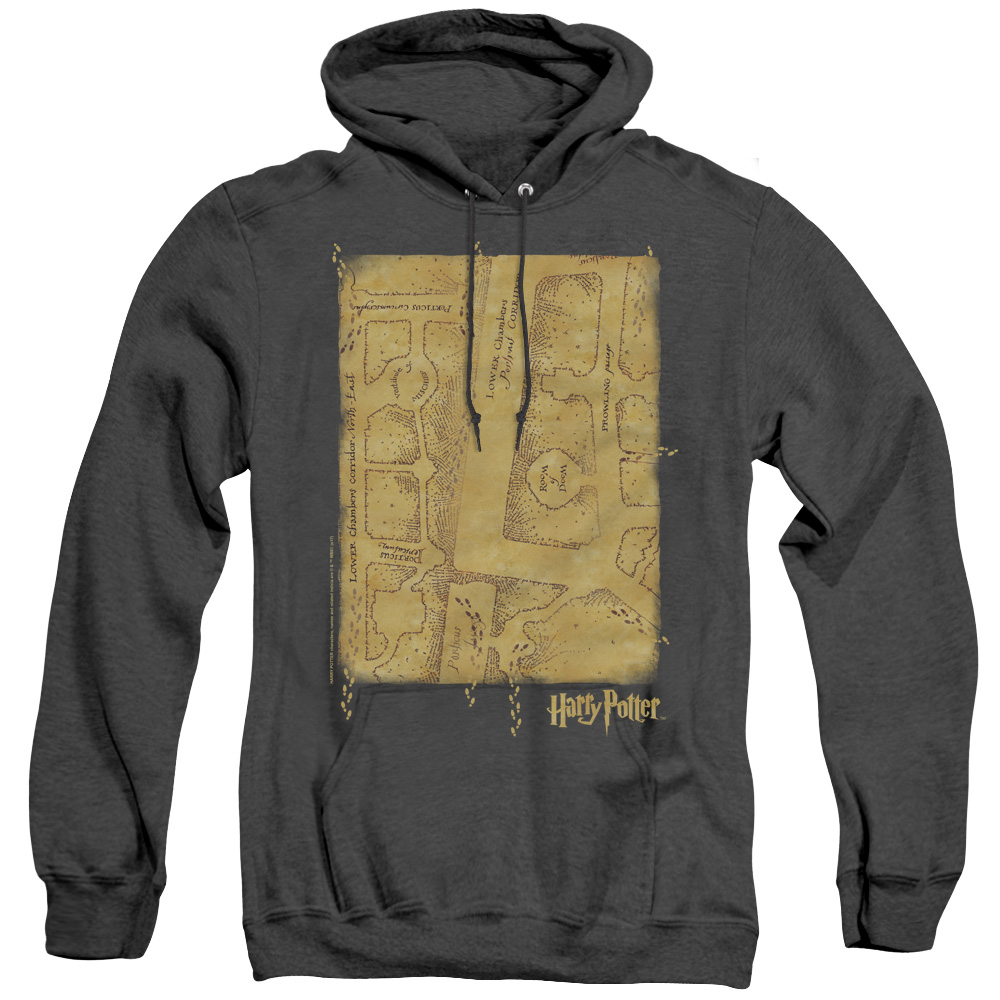 Harry Potter Maraunder's Map Interior Adult Heather Hoodie