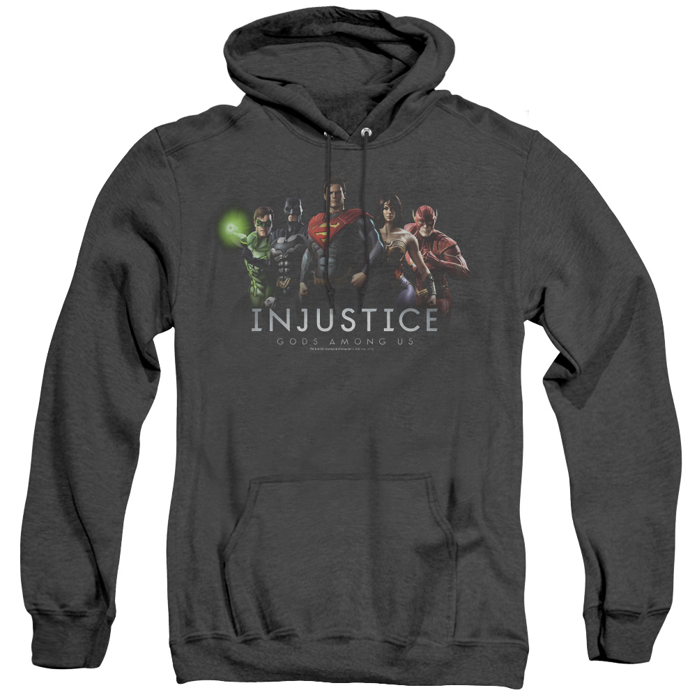 Injustice League Adult Heather Hoodie