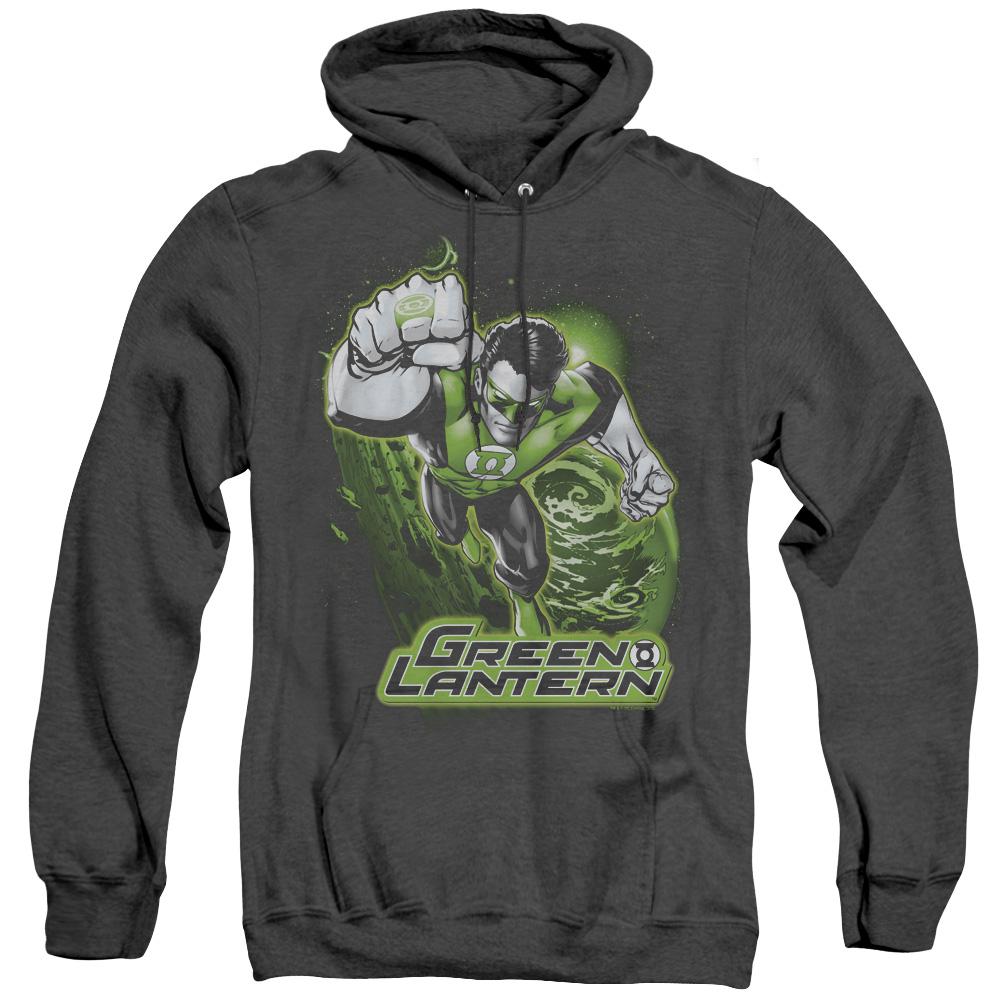 Green Lantern Green & Gray Adult Heather Hoodie