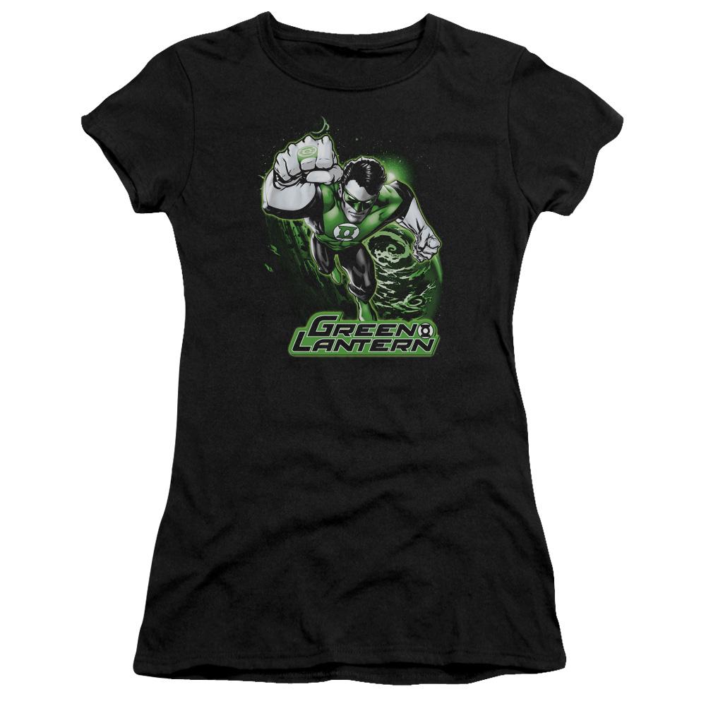 Green Lantern Green & Gray Junior Fit T-Shirt