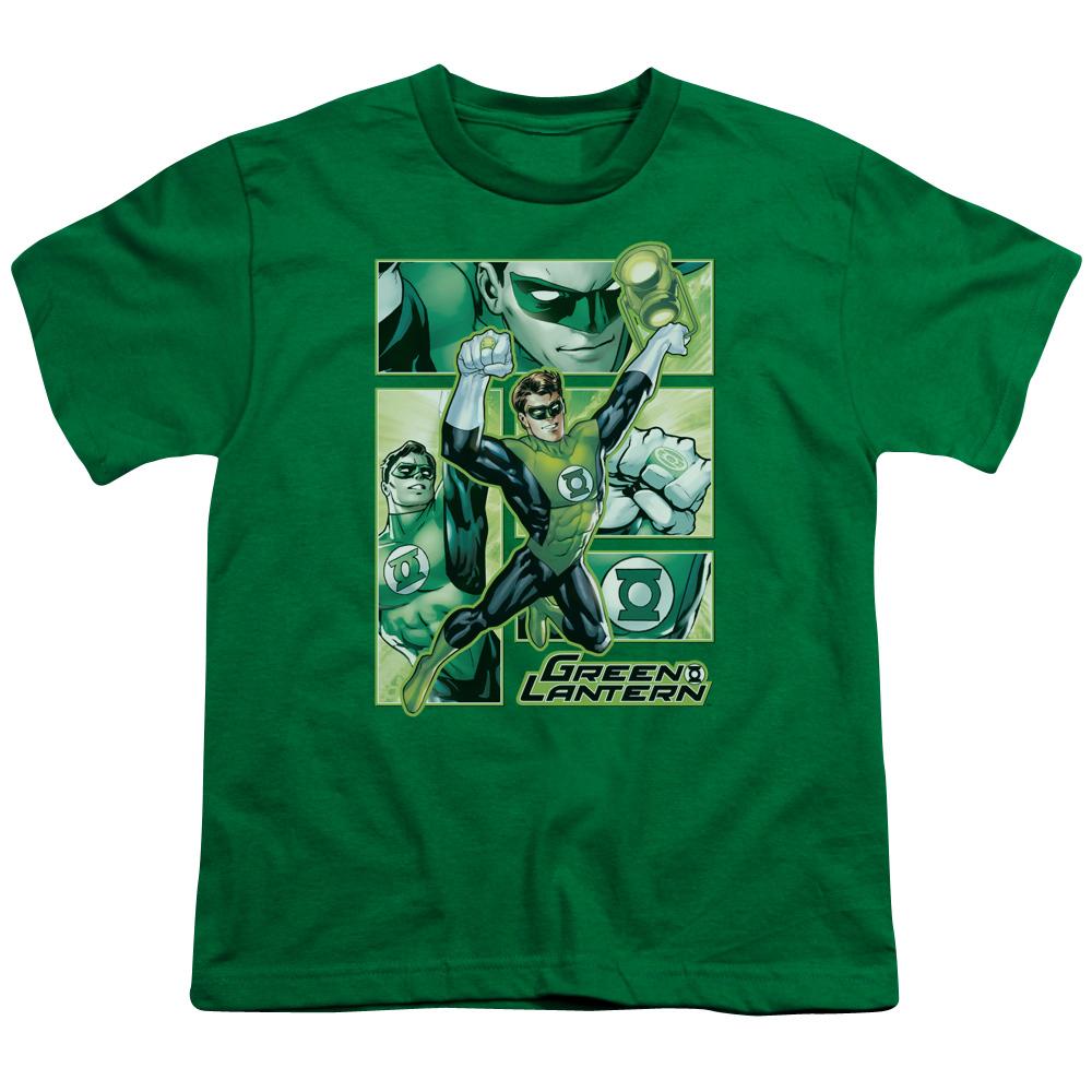 Green Lantern Green Lantern Panels Kids T-Shirt